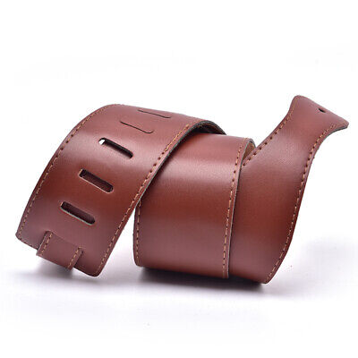 AU14.69 • Buy Adjustable Brown Soft Leather Thick Guitar Strap Belt For Electric  Acoustic