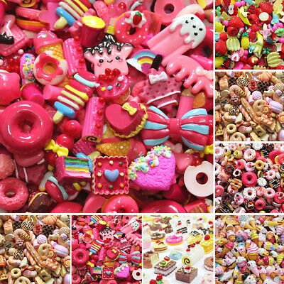AU7.02 • Buy Mixed Slime Beads Charms DIY Candy Flatbacks Resin Scrapbooking Crafts Colorful
