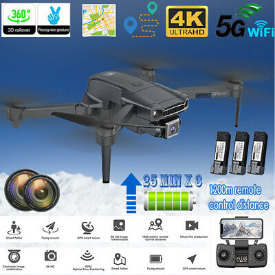 AU194.74 • Buy GPS With 4K HD Dual Camera 5G Wifi FPV Drone RC Quadcopter Brushless Foldable AU