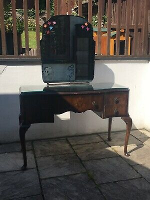 £50 • Buy Edwardian Dressing Table With Mirror And Glass Top (small Chip At Back Edge).