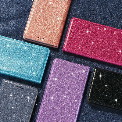 AU13.69 • Buy For IPhone 13 12 Mini 11 Pro Max 8 Glitter Magnetic Stand Flip Case Wallet Cover