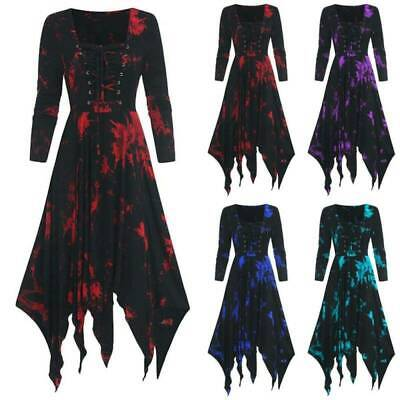 £15.48 • Buy Ladies Gothic Witch Cosplay Fancy Dress Renaissance Medieval Halloween Costume