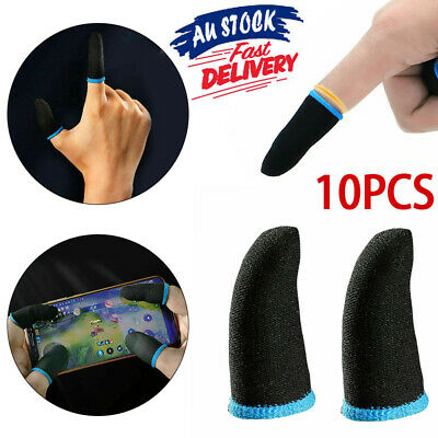 AU9.99 • Buy 10PCS Gaming Finger Sleeve Mobile Screen Game Controller Sweatproof Gloves NEW