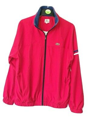 £15 • Buy Lacoste Tracksuit Top Red Medium Really Good Condition
