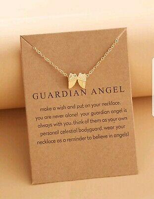 £3.49 • Buy Angel Wings Pendant Gold Necklace