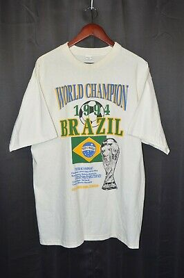 £29.06 • Buy Vtg. Soccer FIFA World Cup 1994 Brazil World Champion Made In USA T-Shirt. Large