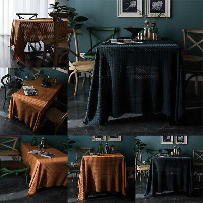 AU34.89 • Buy Rectangle Tablecloth Wedding Event Party Tableware Covers Dining Table Cloth AU