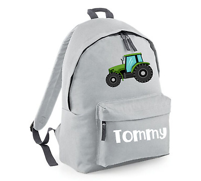 AU31.99 • Buy Personalised Backpack School Bag, Massey Tractor, Choice Of Size + Colour, 208