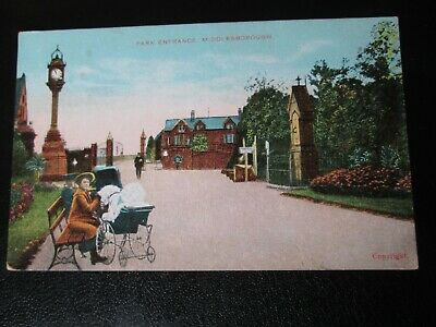 £1.99 • Buy Postcard Of Park Entrance, Middlesborough (with Woman & Pram) 1912 Posted