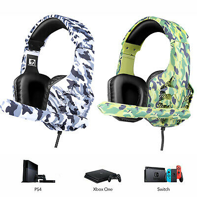 AU27.89 • Buy 3.5mm Gaming Headset MIC LED Headphones Surround For PC Mac Laptop PS4 Xbox One