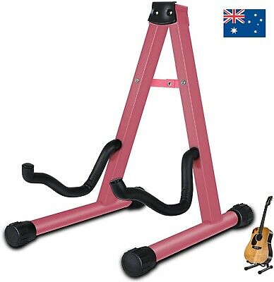 AU16.99 • Buy Guitar Stand Folding Universal A Frame Stand For All Guitars Electric Bass Pink