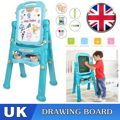 £20.99 • Buy Green Folding Double Sided Magnetic Drawing Board Easel With Colour Chalk Eraser