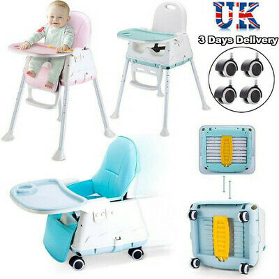 £30.98 • Buy 4 In 1 Baby Kids High Chair Toddler Infant Feeding Seat Chair Foldable Highchair