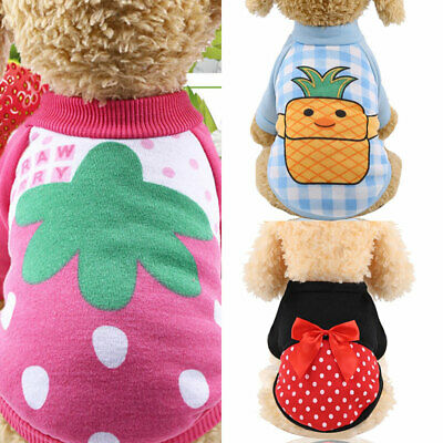 £2.59 • Buy Small Dog Hoodie Coat Winter Warm Pet Clothes For Chihuahua Sweatshirt XS-2XL