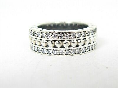 £35.59 • Buy Estate Sterling Silver Forever Clear CZ Pandora Eternity Ring 8.7g B40