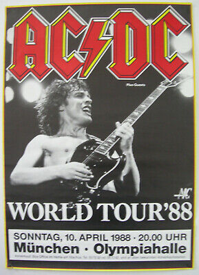 $79.95 • Buy Ac/dc Concert Tour Poster 1988 Blow Up Your Video Angus Malcolm Young