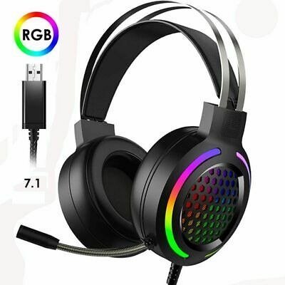 AU29.99 • Buy AU Gaming Headset Stereo RGB LED Backlit 7.1 Channel Surround Microphone Type-C