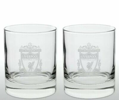 £14.95 • Buy Liverpool FC Official Football Gift Whiskey/ Vodka/ Tumbler Glass X 2