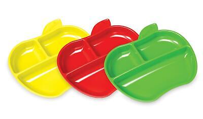 £8.09 • Buy Munchkin Lil Apple Plates Toddler Plate Dish 3 Pack
