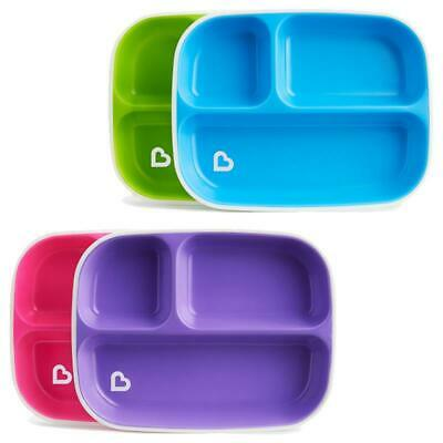 £9.79 • Buy Munchkin Splash Divider Plates Toddler Plate With Sections 2 Pack