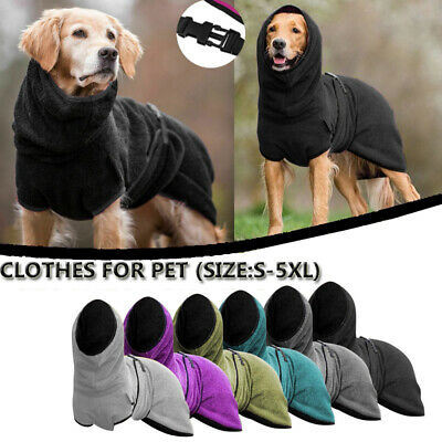 £12.49 • Buy Pets Dog Clothe Towelling Drying Robe Puppy Warm Apparel Buckle Hoodie Warm Coat