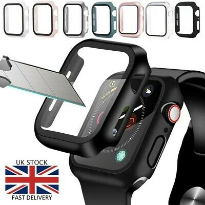 £1.99 • Buy Tempered Glass Case For Apple Watch Series 6 5 4 3 2 1 SE Screen Protector Cover
