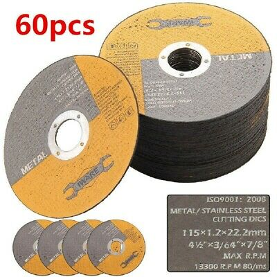 £13.99 • Buy 60x115mm 4.5  Metal Cutting Blade Disc Stainless Steel Angle Grinder Thin 1.2mm