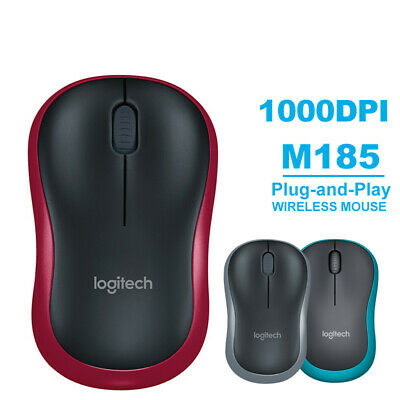 £7.69 • Buy Logitech M185 Wireless Optical Mouse Compact PC Laptop Mouse +receiver UK&Fast~~