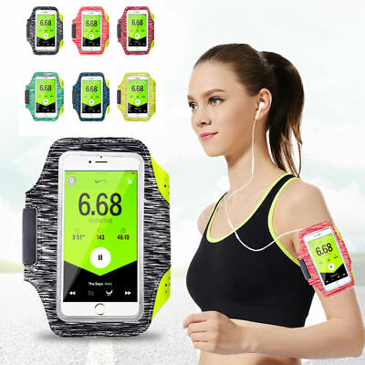 AU12.19 • Buy Sports Arm Band Mobile Phone Holder Bag Running Gym Armband For IPhone 5 6 7 8 X