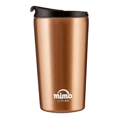 £12.90 • Buy Mimo Travel Mug 250ml, Gold And Black Hot Cold Thermos Flask On The Go Mini