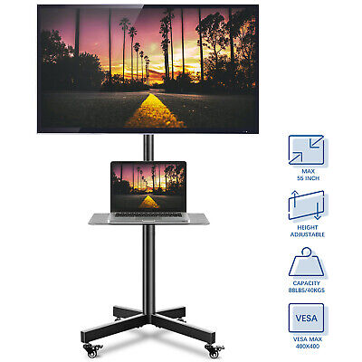 £60.99 • Buy Mobile TV Stand On Wheels For 27-60 Inch Plasma/LCD/LED TVs, Portable TV Stand