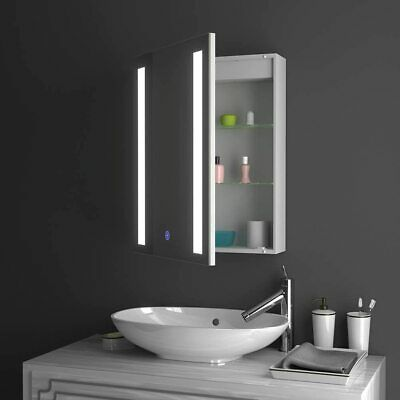 £136.99 • Buy LED Bathroom Mirror Cabinet With Touch Sensor Switch Demister And Shaver Socket