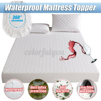 £11.59 • Buy Jacquard Cloudy Mattress Pad Waterproof Bed Sheet Cover Protector Against Dust