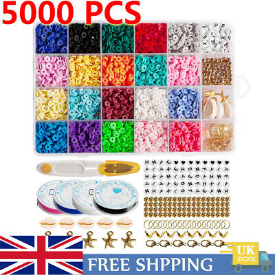 £13.48 • Buy 1 Set DIY Flat Polymer Clay Beads Spacer For Bracelets Jewelry Decor Making UK