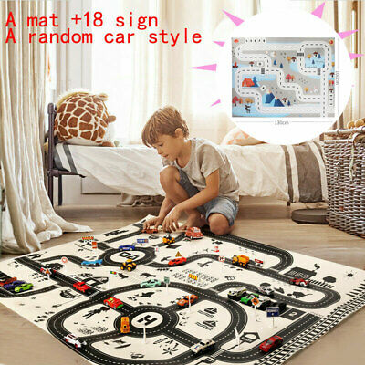 £3.99 • Buy Kids City Road Play Mat Children Car Road Soft Carpet Rug Playmat Learning Toy C
