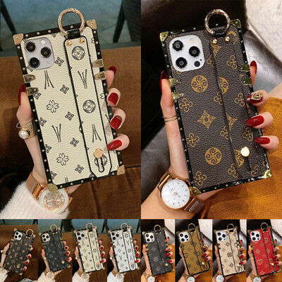 AU10.33 • Buy For IPhone 12 11 Pro Max XS XR 6 7 8 Case Luxury Pattern Leather Cover Wristband