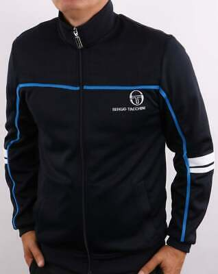 £65 • Buy Sergio Tacchini Men's Frankie Track Top Navy/French Blue - Tracksuit Jacket 80s