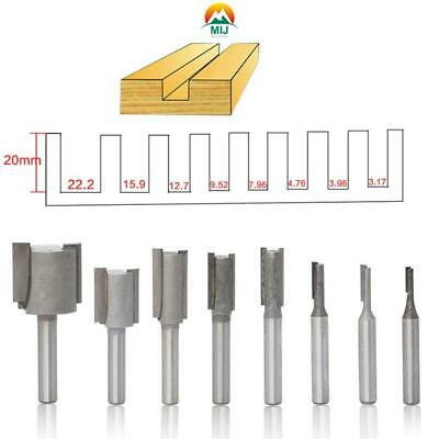 £10.98 • Buy 8Piece 1/4 Shank Straight Slotted Router Bit For Woodworking Cutter Set 6.35mm