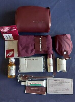 £7.90 • Buy United Airlines Vintage First Class Amenity Kit Bag With Original Toiletries