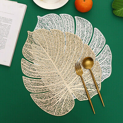 AU7.34 • Buy New Leaf Shape Dining Placemats Coaster Mats Non-Slip PVC Washable Cup Table Mat