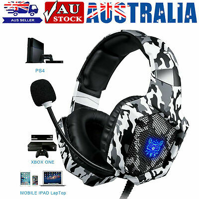 AU27.81 • Buy ONIKUMA K8 Gaming Headset With Mic Stereo Heavy Bass Headphone For Laptop PC PS4