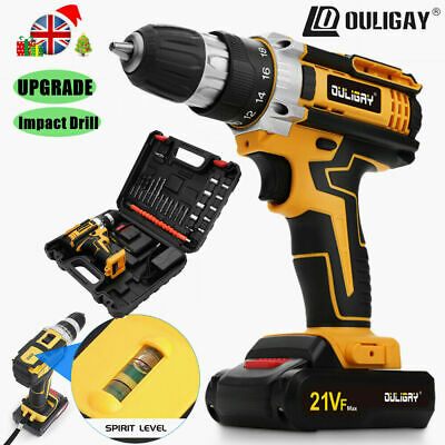 £26.09 • Buy UPGRADE 21V Cordless Impact Drill Set Driver Screwdriver Lithium Ion Fast Charge