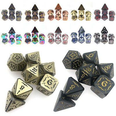 AU31.99 • Buy 7 Pcs Polyhedral Dice Set For Dungeons & Dragons DND RPG MTG Toys Dungeons Game