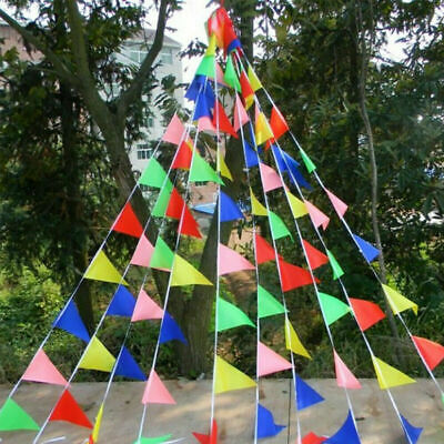 £6.99 • Buy 100M Triangle Flags Bunting Banner Pennant Festival Wedding Party Garden Street