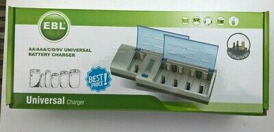 £12.95 • Buy EBL 906 AA/AAA/C/9V/D/Ni-MH/ Ni-Cd LCD Smart Quick Universal Battery Charger