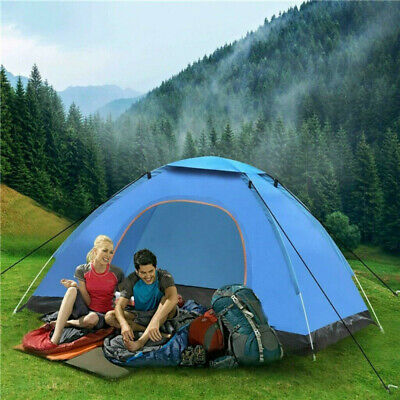 £28.49 • Buy Pop Up Tent Automatic 3-4 Man Person Family Tent Camping Festival Shelter Beach