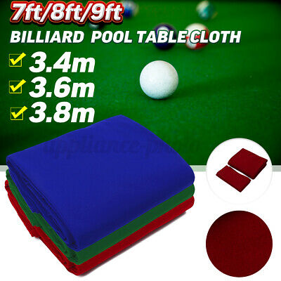 £14.95 • Buy Snooker Pool Table Cloth Billiard Tablecloth Cover Felt Protector 7/8/9FT  UK