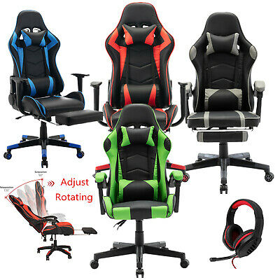 £49.99 • Buy Office Racing Gaming Chairs Swivel Leather Recliner Computer Chair Executive
