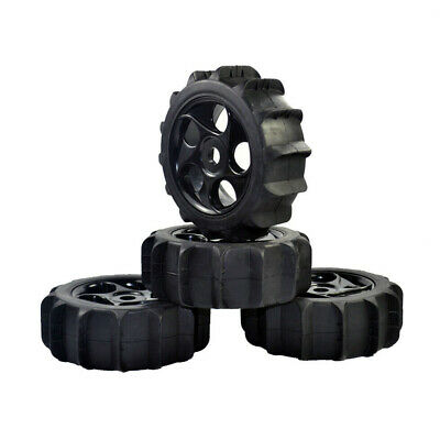 £17.99 • Buy 4Pcs 1/8 Scale Sand Snow Buggy RC 5 Holes Wheels And Tyres Black For RC Off Road
