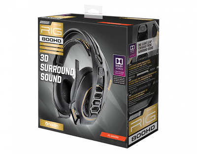 AU68.79 • Buy Gaming Headset And Mic Plantronics Rig 800 HD PC Wired With Support Dolby Atoms